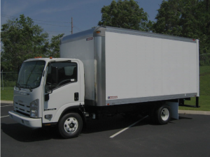 Picture of box truck that needs insurance